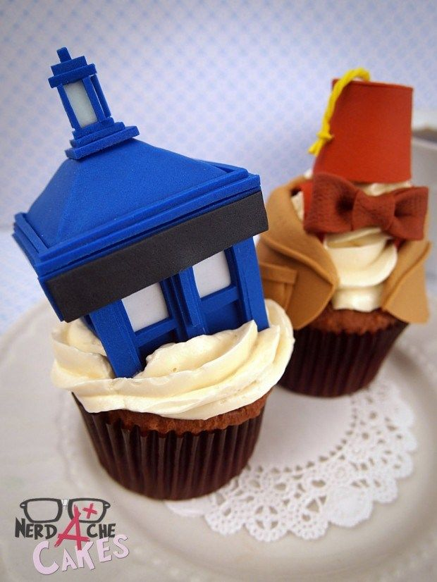 Tardis & Doctor Who Cupcakes