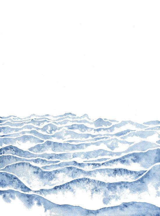 Simple Ocean Wave Graphic