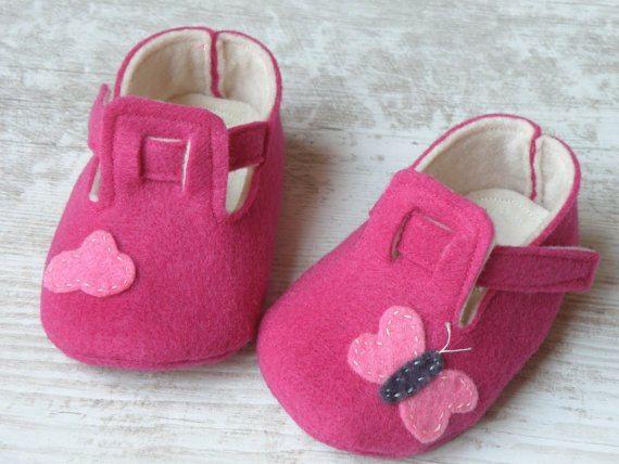 zapatos bebe fieltro