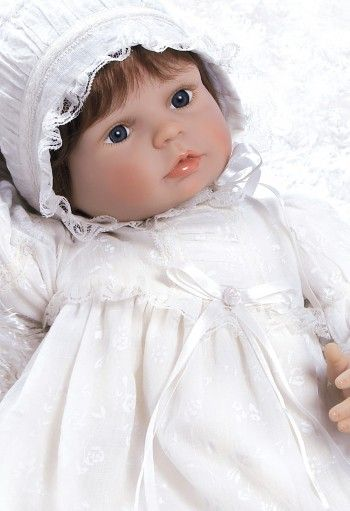 Realistic Baby Doll in Christening Gown Outfit - Sweet Emmeline, 22 inch GentleTouch Vinyl | Weighted Body