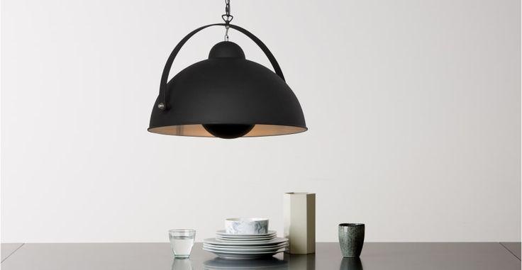 Chicago Pendant Light, Black and Silver  | made.com