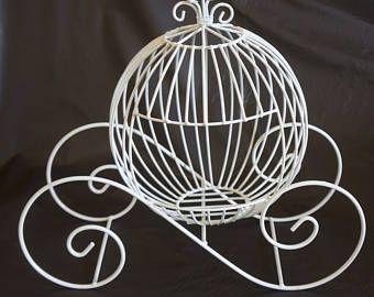 MEDIUM Wire Cinderella pumpkin carriage