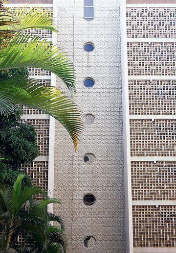 Apartment block in Brasilia design by Oscar Niemeyer