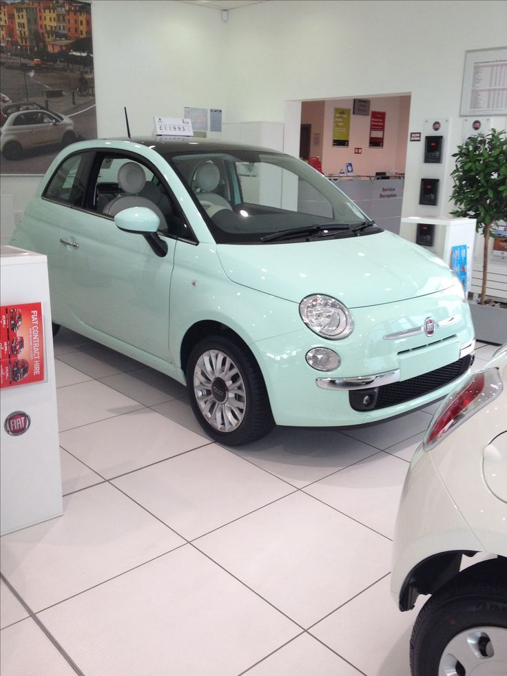 Fiat 500 mint green someone buy me this!!!