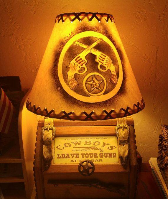 Rusty Savage Rose Etsy shop https://www.etsy.com/listing/241897304/cowboy-desk-lamp-western-southwestern