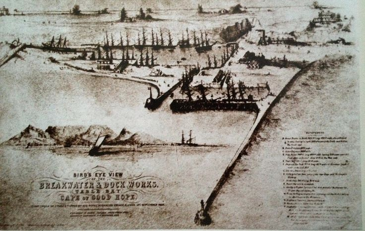 Early sketch of Cape Town's waterfront.
