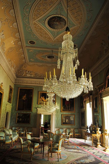 Bucket chandelier The Saloon at Saltram House in Plymouth, Devon, England. Photo by Tikki Duw. (via Flickr).