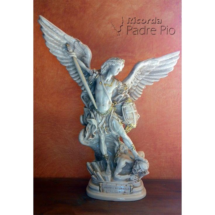 Statua San Michele Arcangelo Antichizzato 40cm, vendita articoli religiosi, arte sacra, scultura, statua