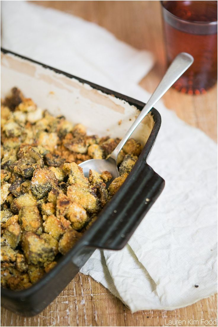 Roasted Aubergine with Chickpea Flour  Crunchy side for any meal