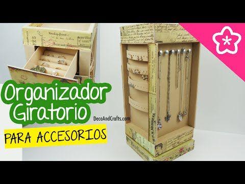 Organizador Giratorio de Cartón para Accesorios y Joyas - DecoAndCrafts - YouTube