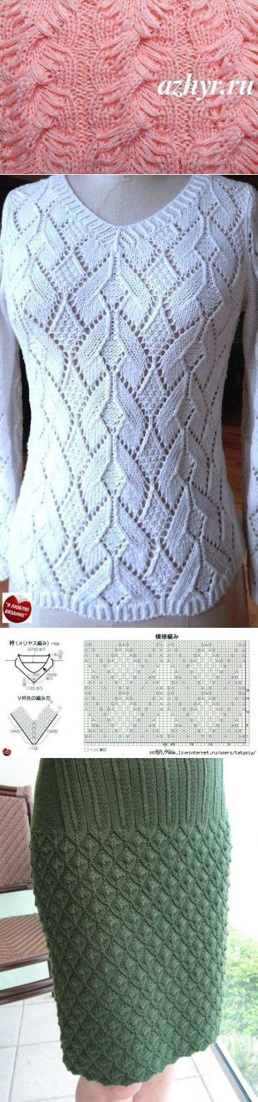 Вязание спицами. Красивые узоры в копилочку