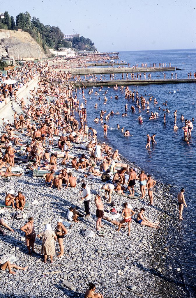 Bathers at the Black Sea Sochi 1968