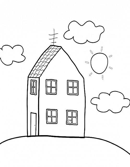 12 best peppa pig - disegni da colorare gratis per bambini images ... - Disegni Case Bambini