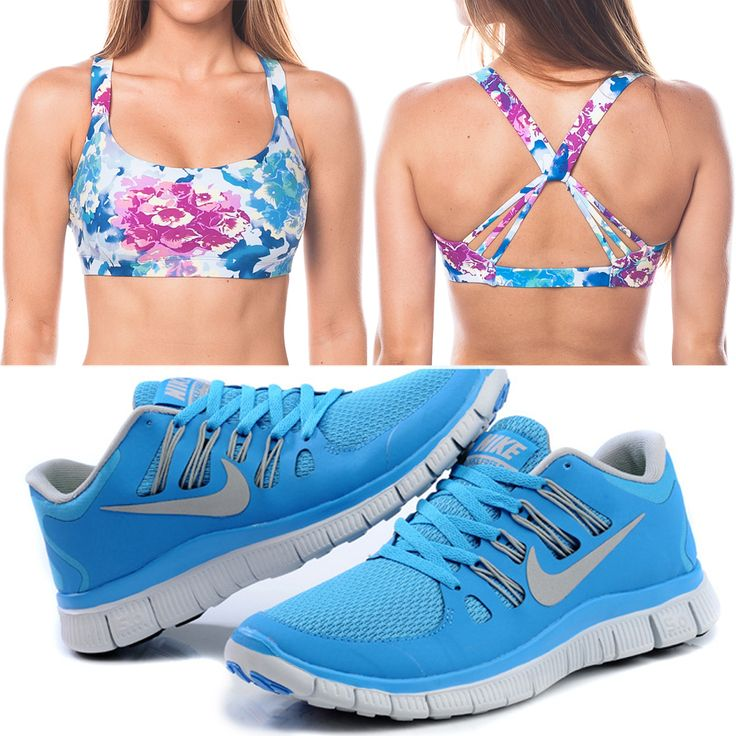 Pretty floral sports bra and these Nikes!! Ahh I need both of these in my closet!