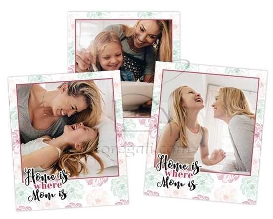 Polaroid Magnetiche Home is mom - Fotoregali.com