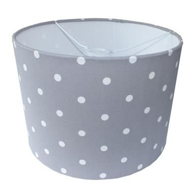 Grey Polka Dot Spotty Lampshade Image