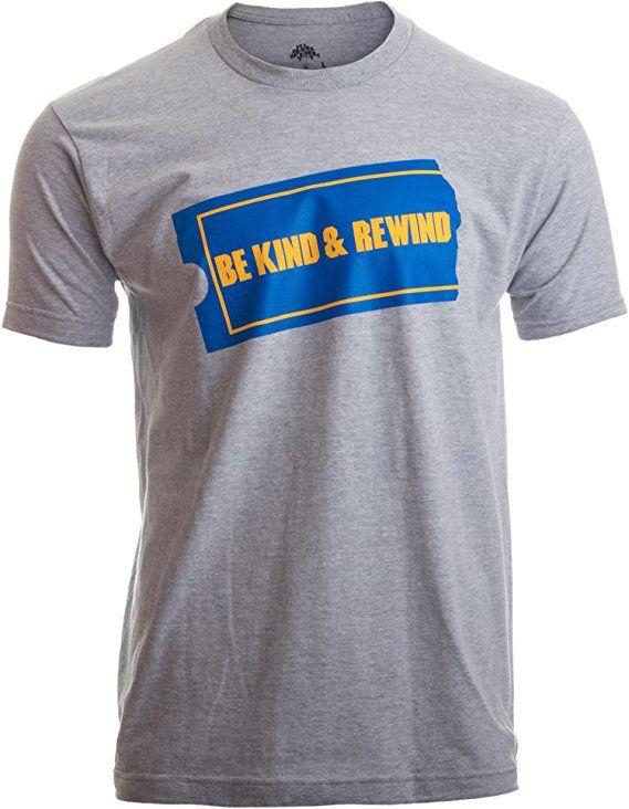 4e0d21d8a Be Kind & Rewind | Funny Retro 90s Party Nostalgia 1990s Pop Culture VHS T- Shirt-(Adult,2XL)