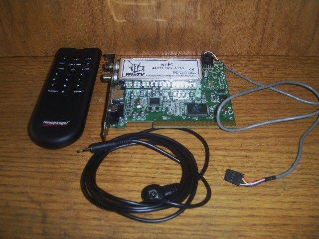 Hauppauge WinTV NTSC/ 44371 TV Tuner Card - Rev A123 Bundle Remote/Antennae 1998 #Hauppauge