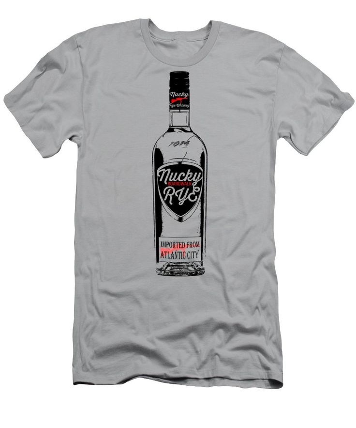 Nucky Men's T-Shirt (Athletic Fit) featuring the digital art Nucky Thompson Boardwalk Rye Whiskey Tee by Edward Fielding