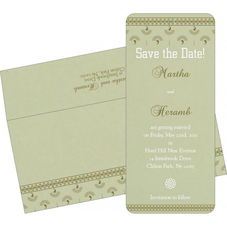 green matte screen printed wedding invitations i 8247l - Muslim Wedding Invitations