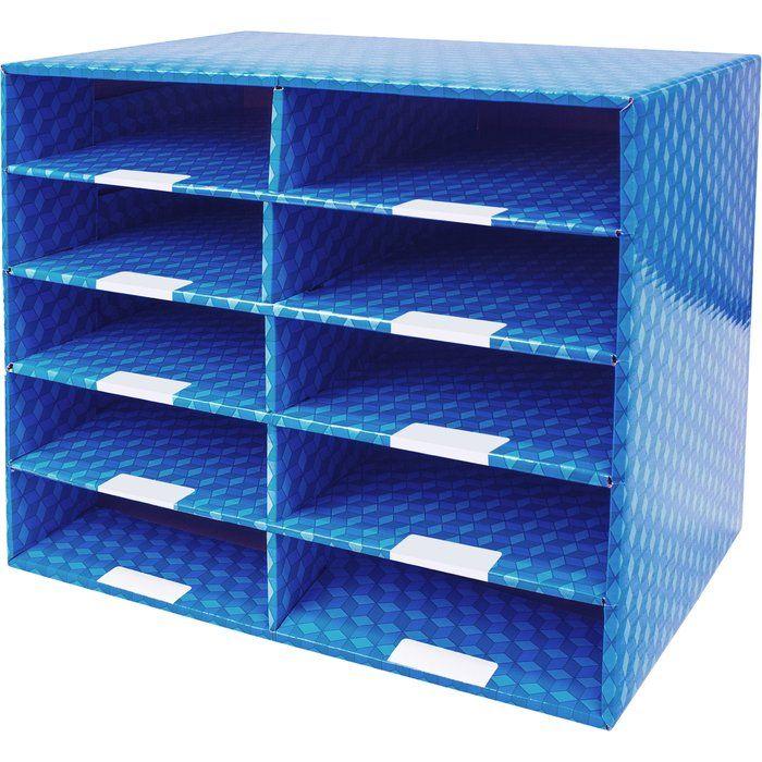 10 Compartments Laminated Corrugated Mailroom Sorter Dry Erase Corrugated Cardboard Corrugated