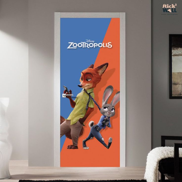 Zootopia - Door sticker decal for decoration of kids ...