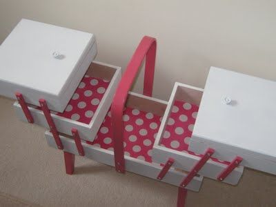 Pink Stitches: Presenting the new restyled - refashioned sewing box!