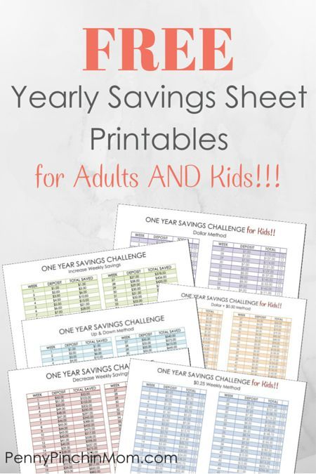 Yearly Savings Challenge For Kids and Adults | Kid, We and ...