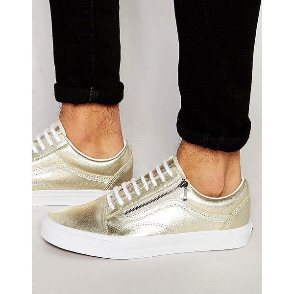 Vans Old Skool Zip Sneakers In Beige V18GIFN