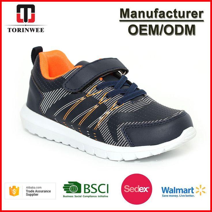 Elastic Strap Mesh Good Quality PU Boys Running Shoes