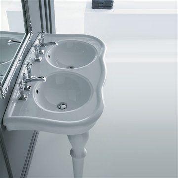 Dobbelt Old Victorian - Klassisk håndvask med dobbelt vask på ben