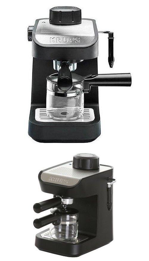 KRUPS XP1020 Steam Espresso Machine with Glass Carafe, 4