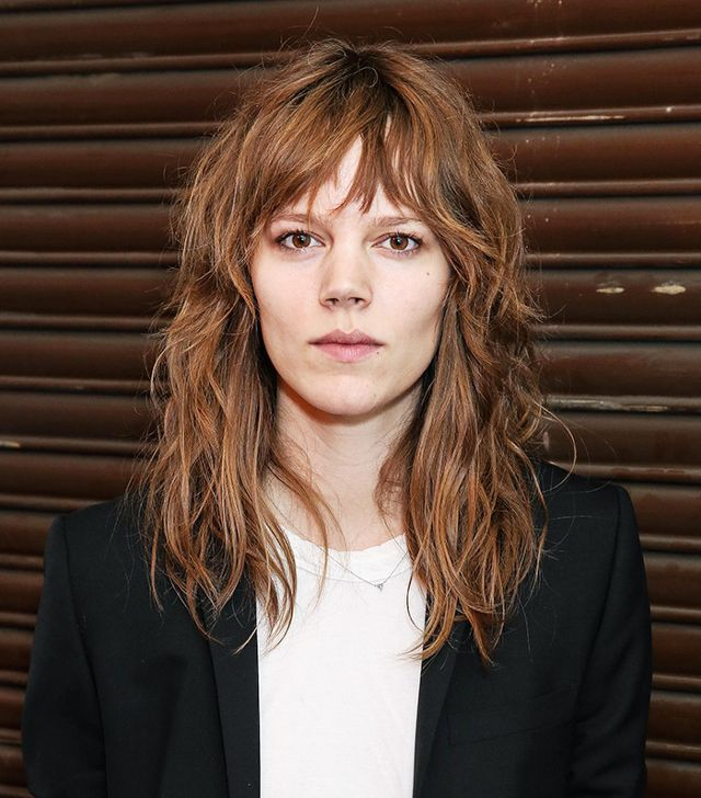 Cool-girl and model Freja Beha Erichson is the epitome of shag cut goals.
