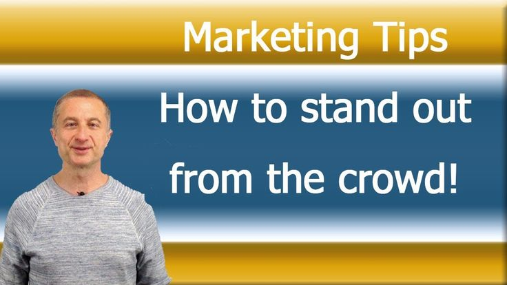 Marketing tips  - 1 Perfect Example How To  Stand Out From The Crowd https://youtu.be/sYOix6LByGg