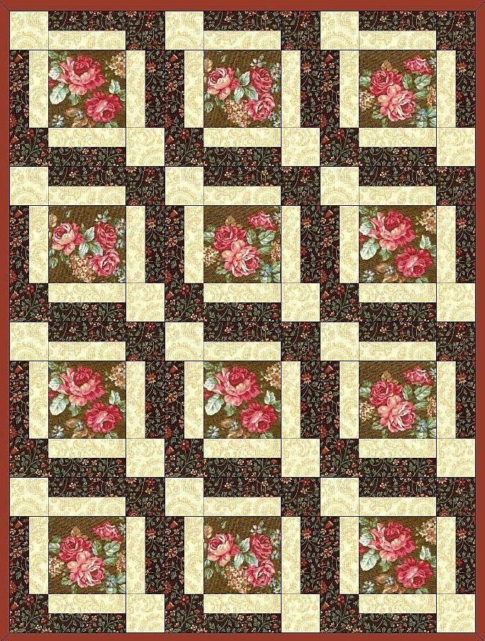 Amelia Rose Flower Pre-Cut Quilt Block Kit – Quilt Kit Shop