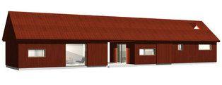 The house model Slåtteråsen 92, exterior