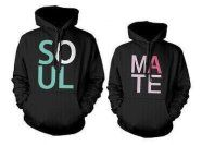 His and Her Soul Mate matching hoodie ------------------ couple shirt, couple hoodie, matching hoodie, fashion, gift ideas, anniversary gift, relationship goals, couple goals, boyfriend , girlfriend, love