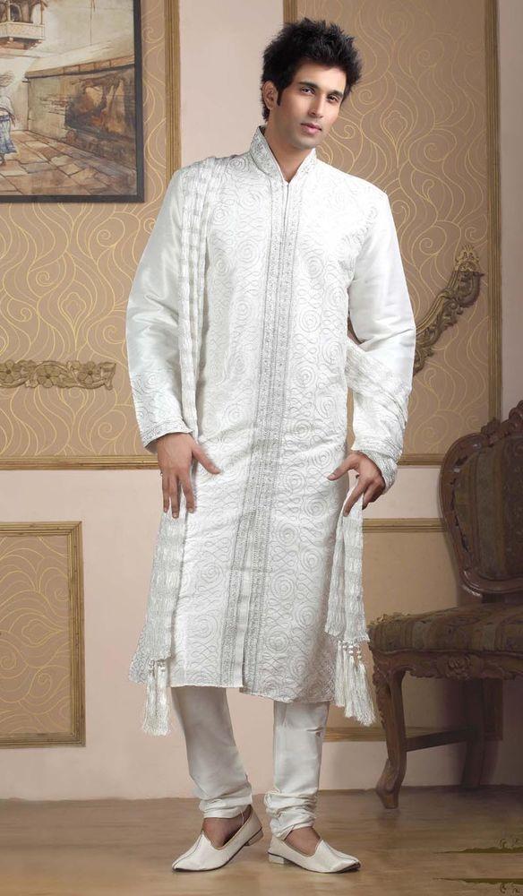 Bollywood Tradational Indian Pakistani Ethnic Bridal Wear Sherwani #BharatPlaza #KurtaPajama