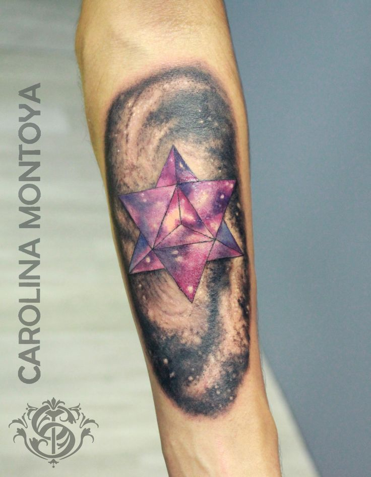 Tetrahedral star tattoo
