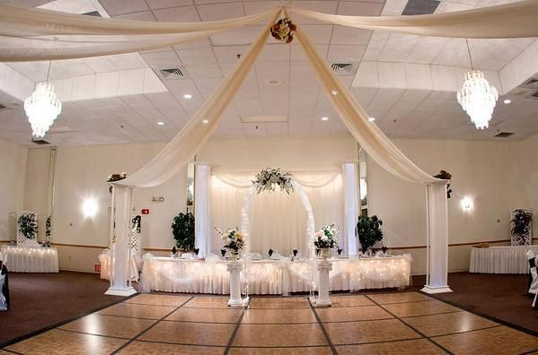 Decoraci n de salones para bodas con telas para m s - Decoracion de hall ...