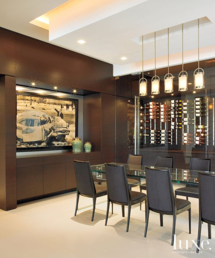 Modern Brown Wine Storage Room Idea