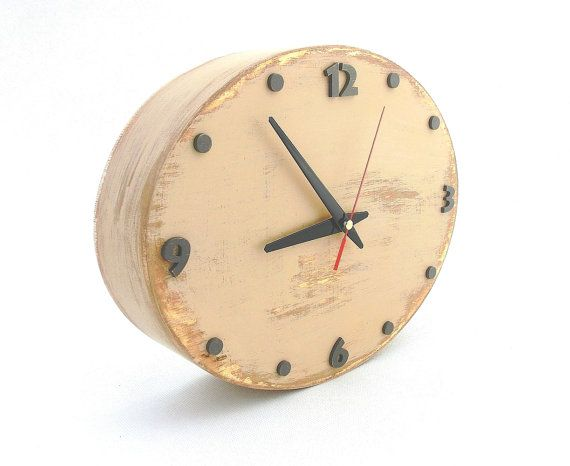 Check out this item in my Etsy shop https://www.etsy.com/listing/227265156/wall-clock-beige-free-shipping-wall
