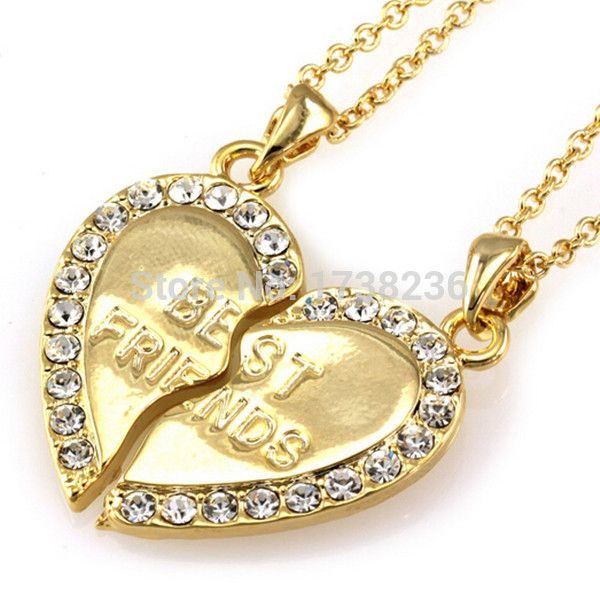 https://ae01.alicdn.com/wsphoto/v0/32326612606/Gold-Finish-Rhinestone-Heart-Best-Friends-Jewelery-Necklace-Set.jpg