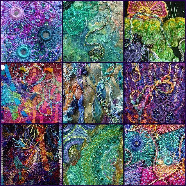 fiber artist Karen Cattoire...Isso é mais para minha amiga Ciça Mora, pois acho que essa não é a minha praia...