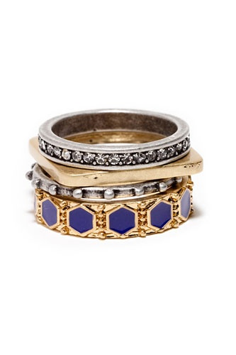 Put a ring on it —no wedding bands requiredStackable Rings, Statement Rings, Rings Stacked, Stacked Rings, Ringcharm Sets, Rings Style, Band Requirements, Wedding Bands, Madewell