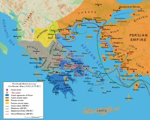 Battle of Salamis (Wiki) - Greek & Persian territory during the reign of Xerxes, husband of Esther.