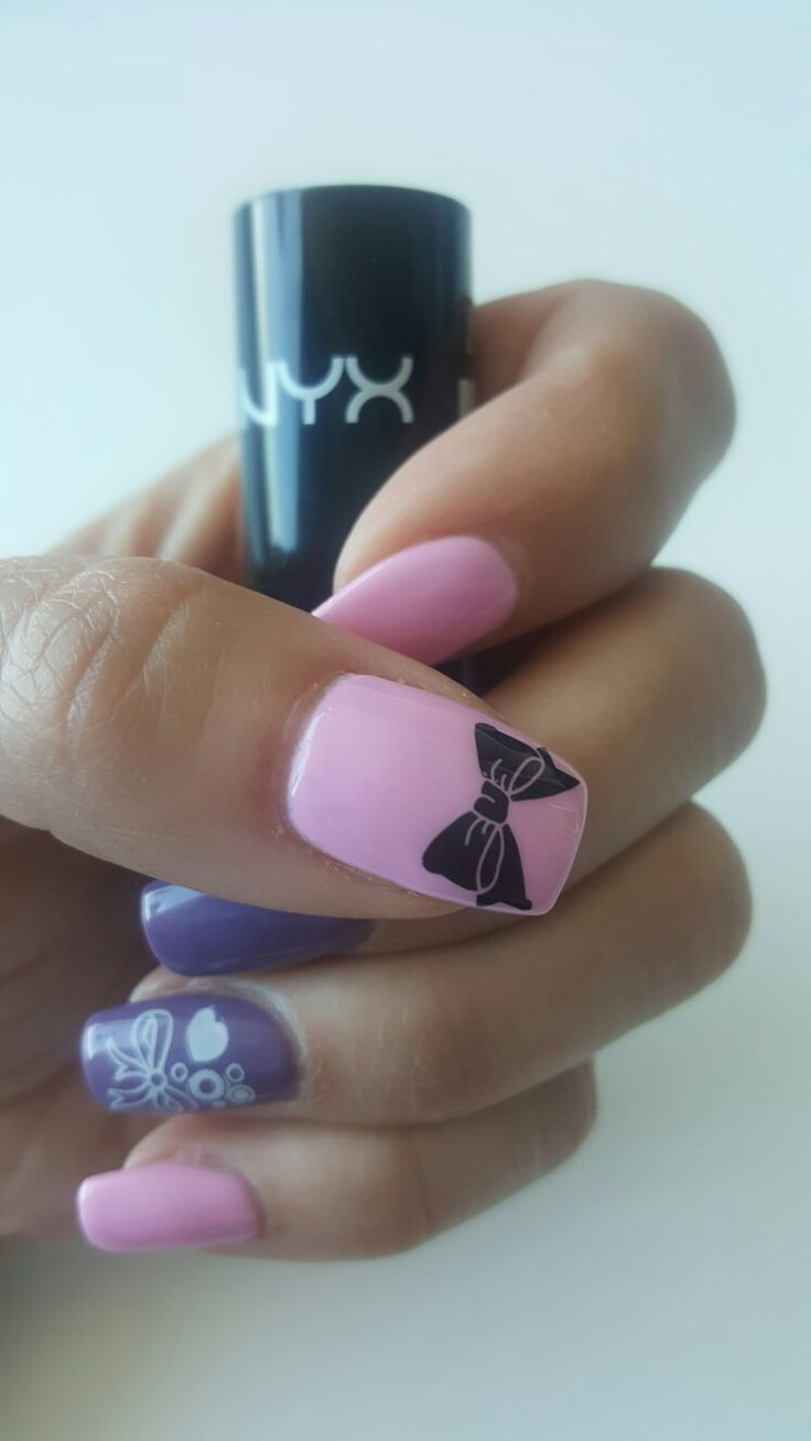 Pink fancy nails