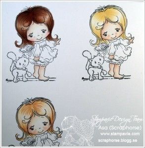 Great tutorial for colouring hair with ProMarkers