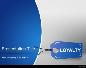 Business brand loyalty management PowerPoint template with loyalty tag