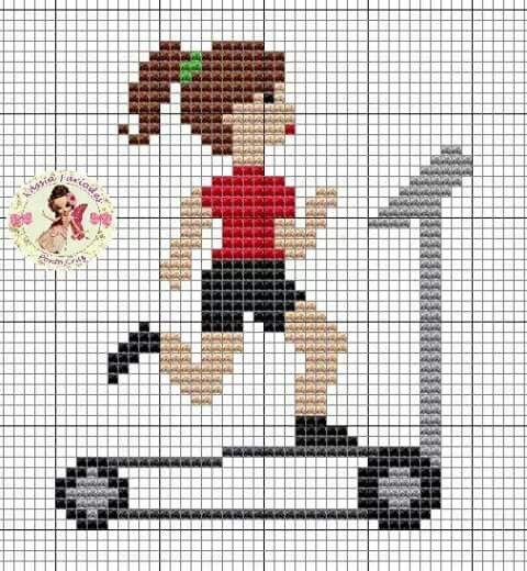 Exercise x-stitch                                                                                                                                                                                 Mais